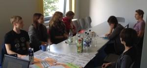Das jugendliche Orga - Team bei seinem ersten Treffen in Parchim