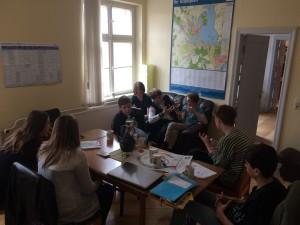 Sitzung des KiJuRa Schwerin in ihrem Büro im Dr. K